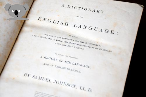 A dictionary of the English language by Samuel Johnson LL D